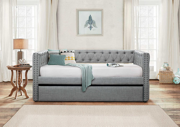 grey daybed with trundle for living room