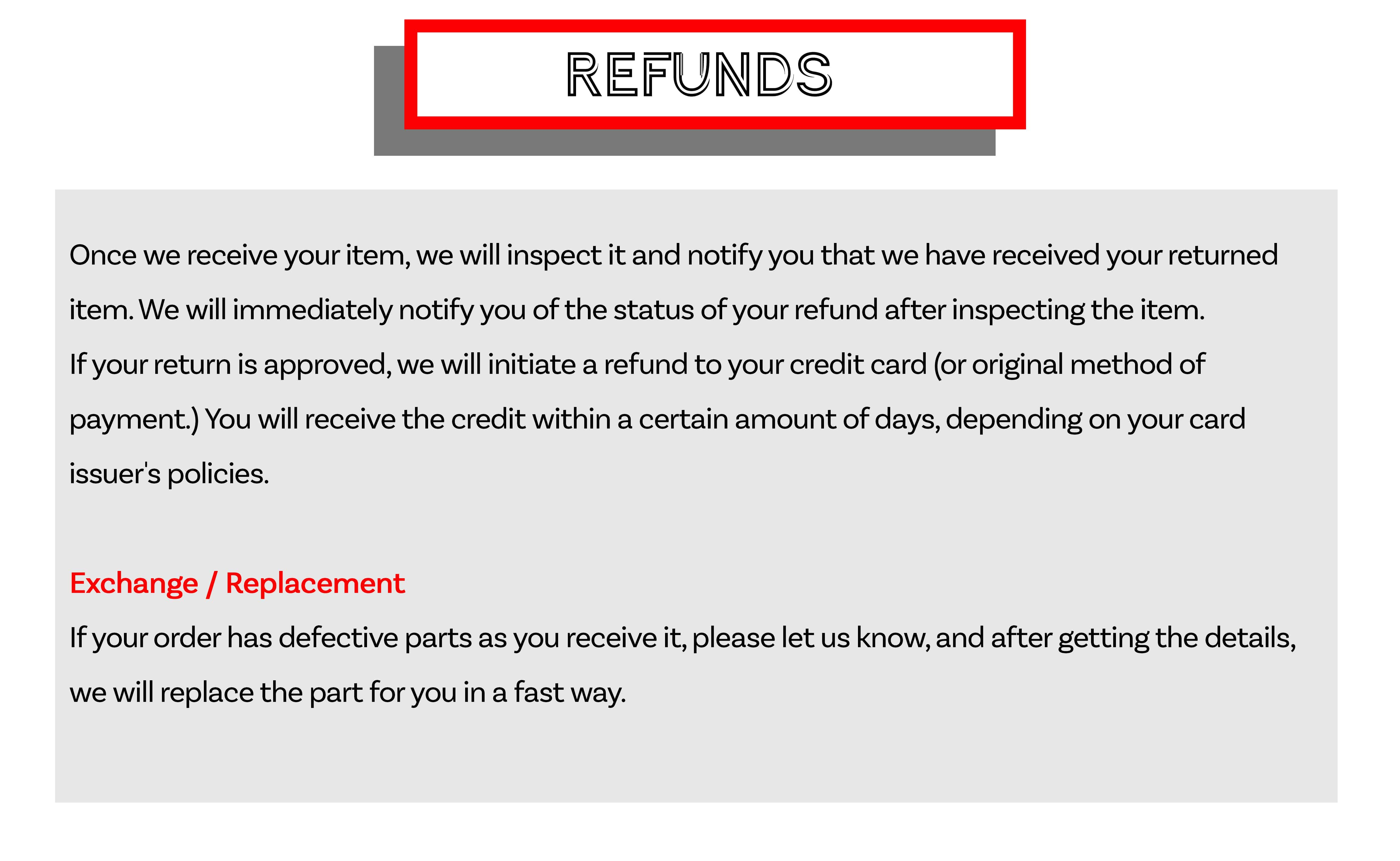 ASY Furniture Houston Stafford Refund Replacement Policy