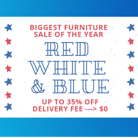 asy furniture sale banner for 4th of july