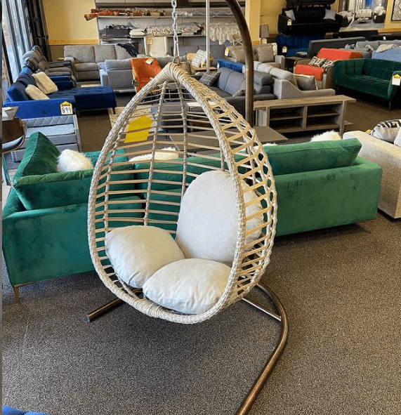 Swing egg chair with stand for outdoor at ASY Furniture Houston Stafford same day delivery