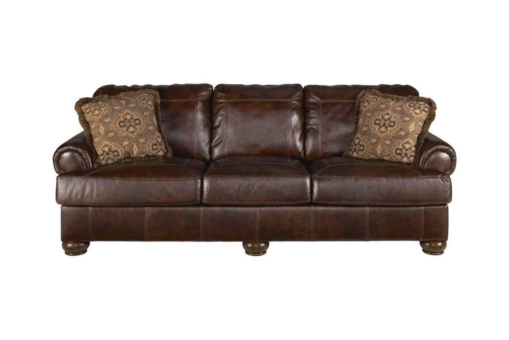 Ashley Reclining Walnut Axiom Sofa