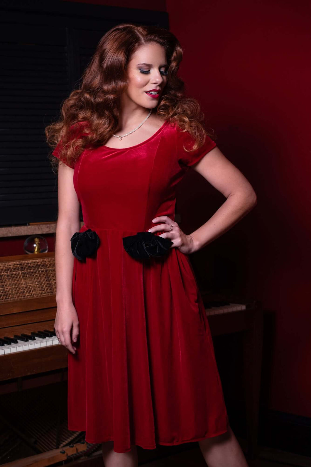 Norma Dress in red *pre order*