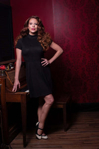 BLACK MOD EMMA DRESS