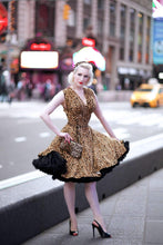 Raquel dress in Leopard print *pre order* - Wax Poetic Clothing
