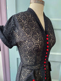 *PRE ORDER* Edith Dress in Black Floral Lace