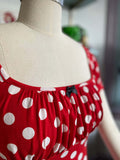 Minnie polka dot dress