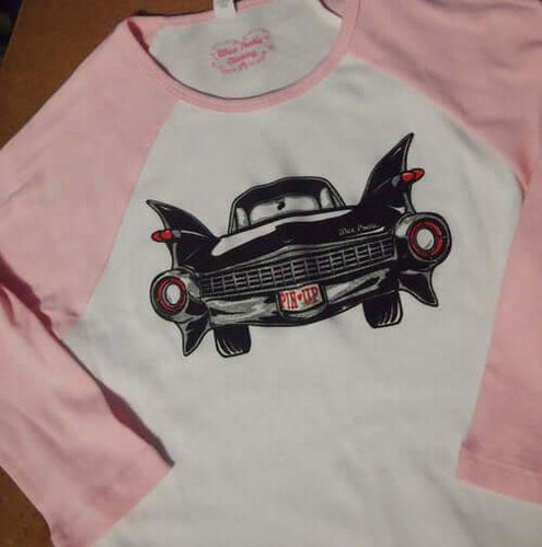 Black Caddy Pinup Raglan