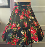 *PRE ORDER* ELLA CIRCLE SKIRT IN RED ROSE KNIT