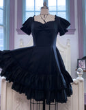 Adelaide dress in Black Cotton Poplin *PRE ORDER*