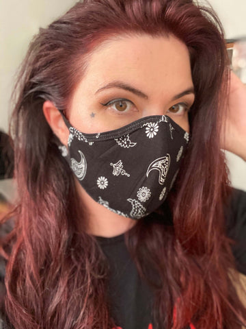 Face Mask in Bandana Black