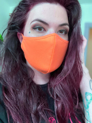 Face Mask in Pumpkin Orange