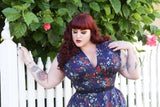 Raquel dress in Edelweiss print *pre order* - Wax Poetic Clothing