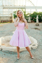 Pink Seersucker Sabrina dress - Wax Poetic Clothing
