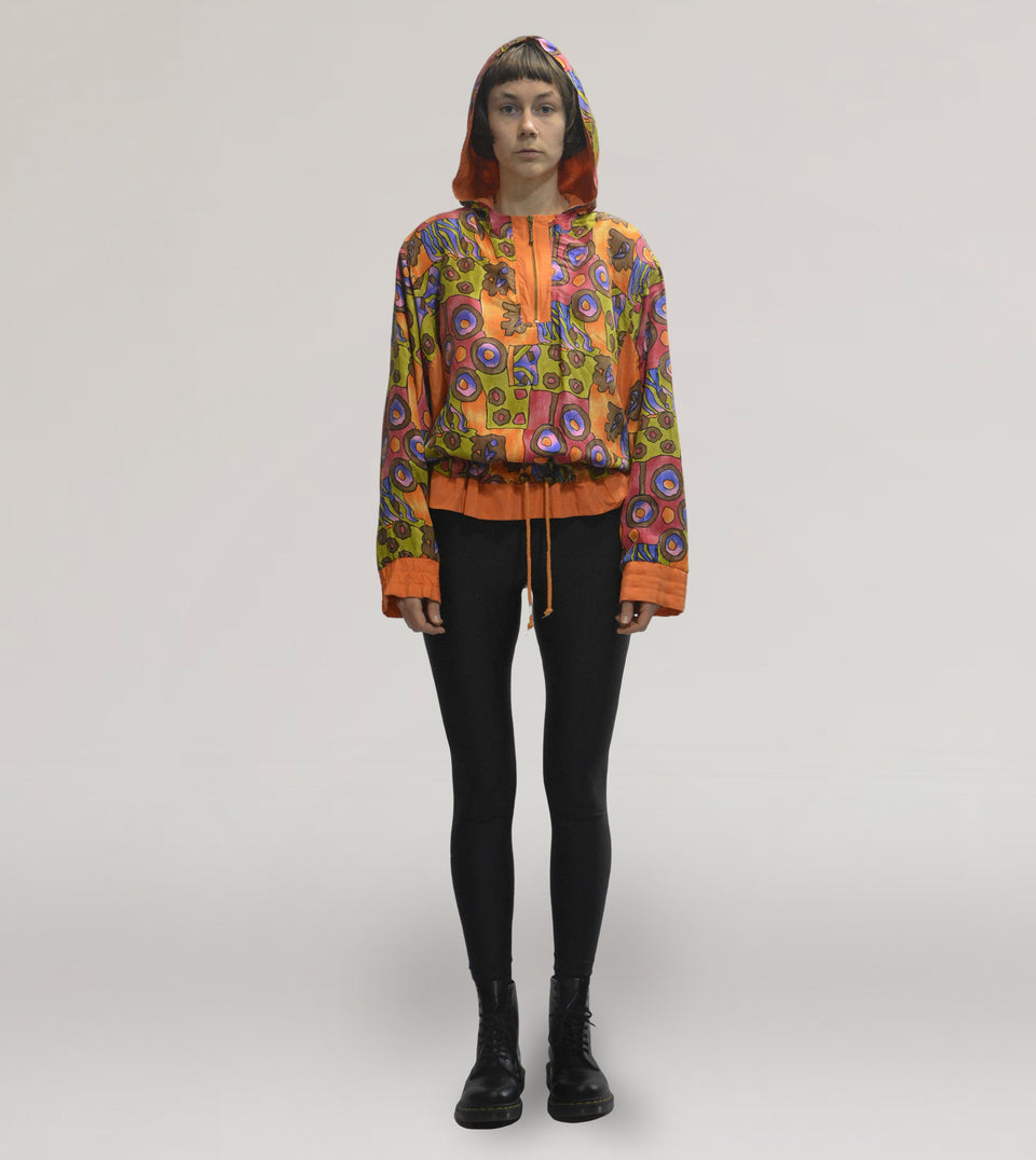 Printed silk jacket