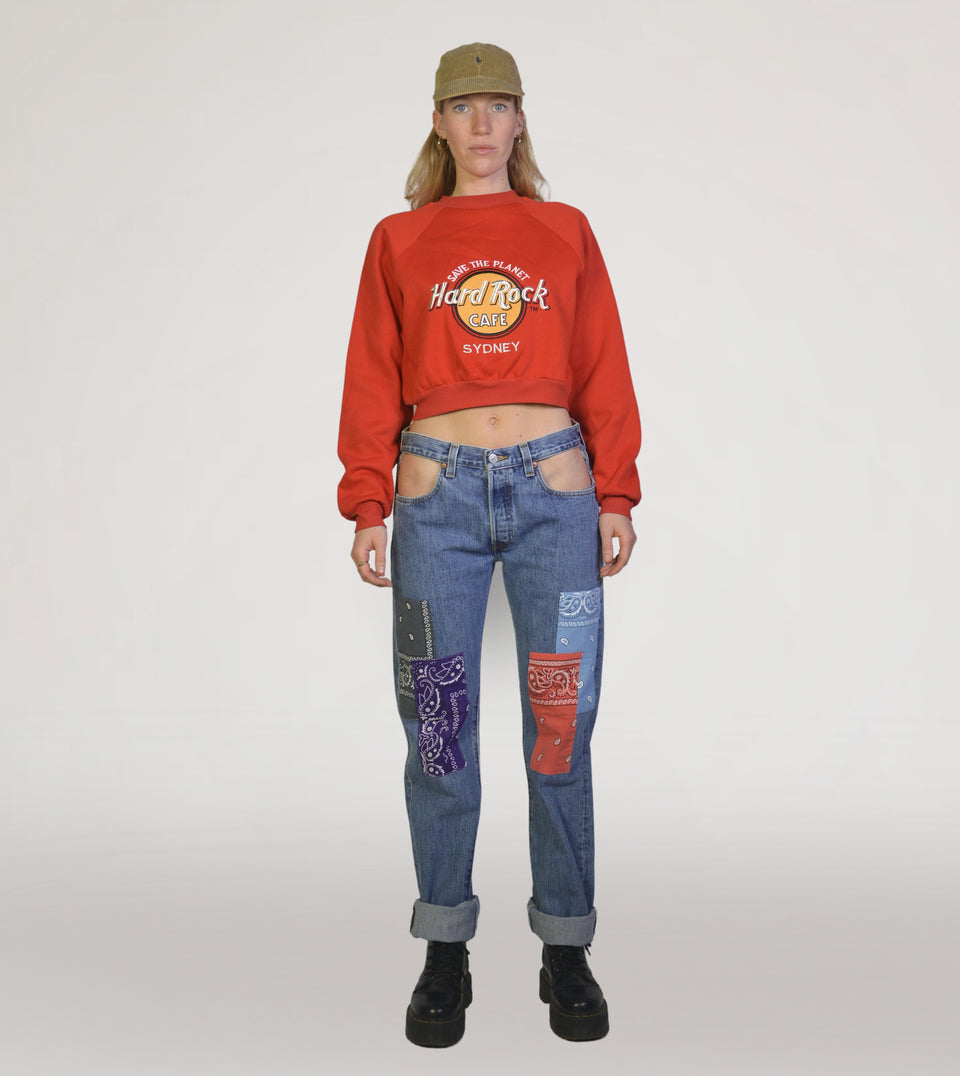 PICKNWEIGHT (RE)COLLECTION USA crop sweater