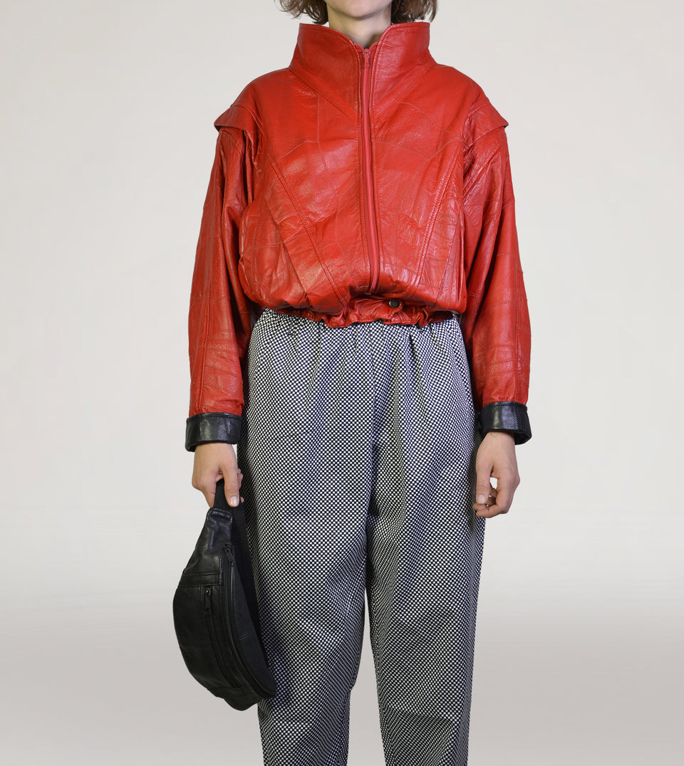 Red 80s leatherjacket