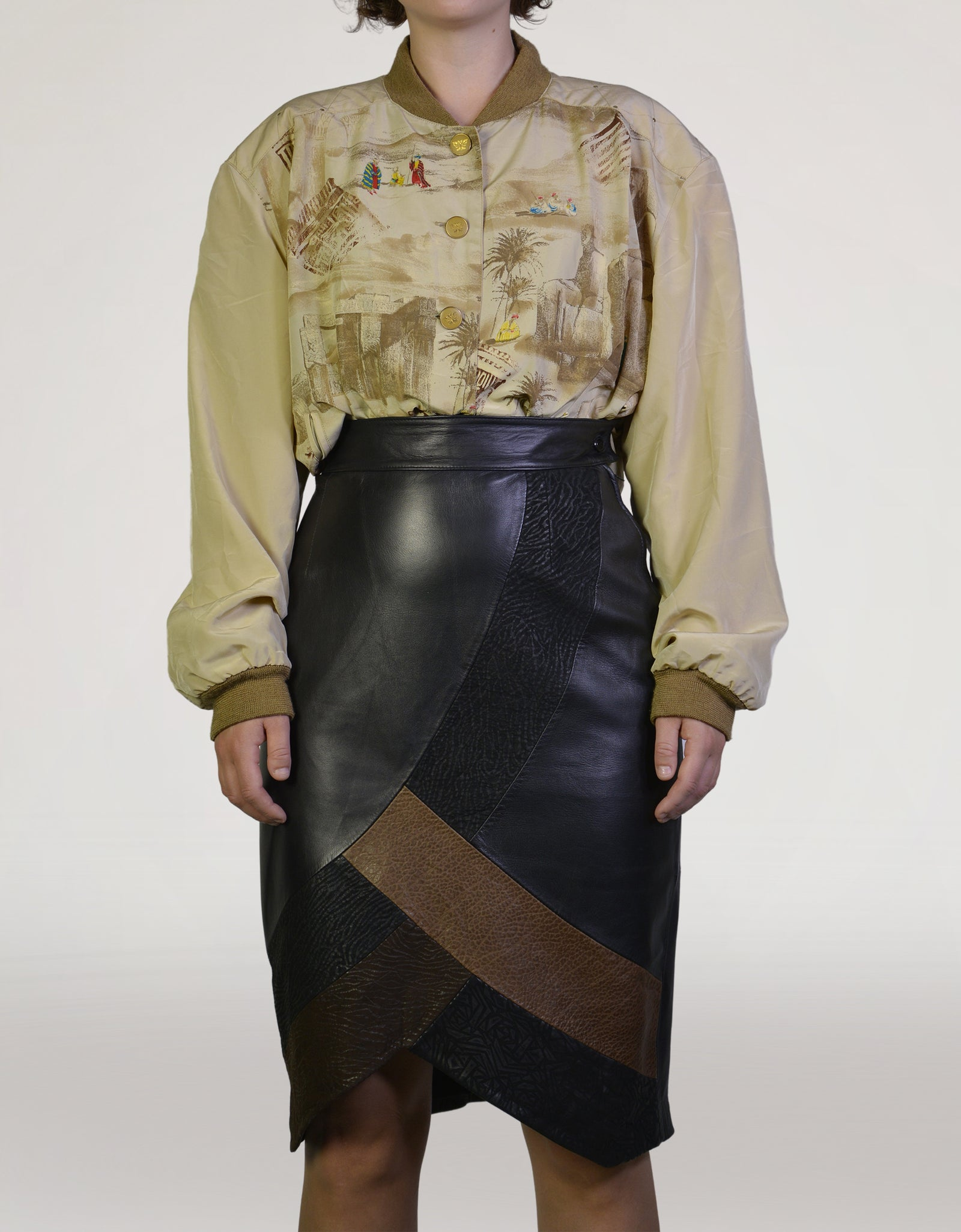Leather skirt - PICKNWEIGHT - VINTAGE KILO STORE