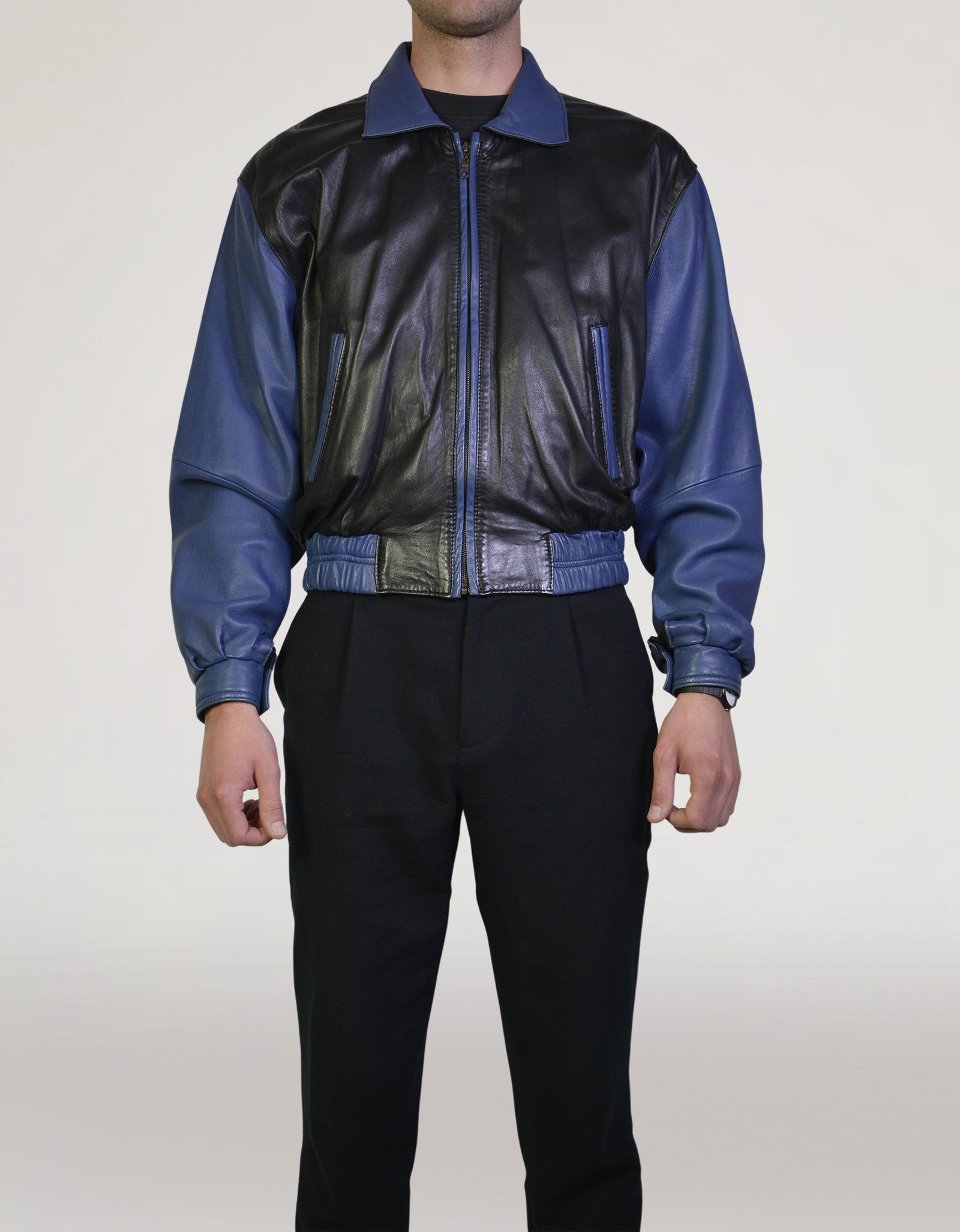 80s leather jacket - PICKNWEIGHT - VINTAGE KILO STORE