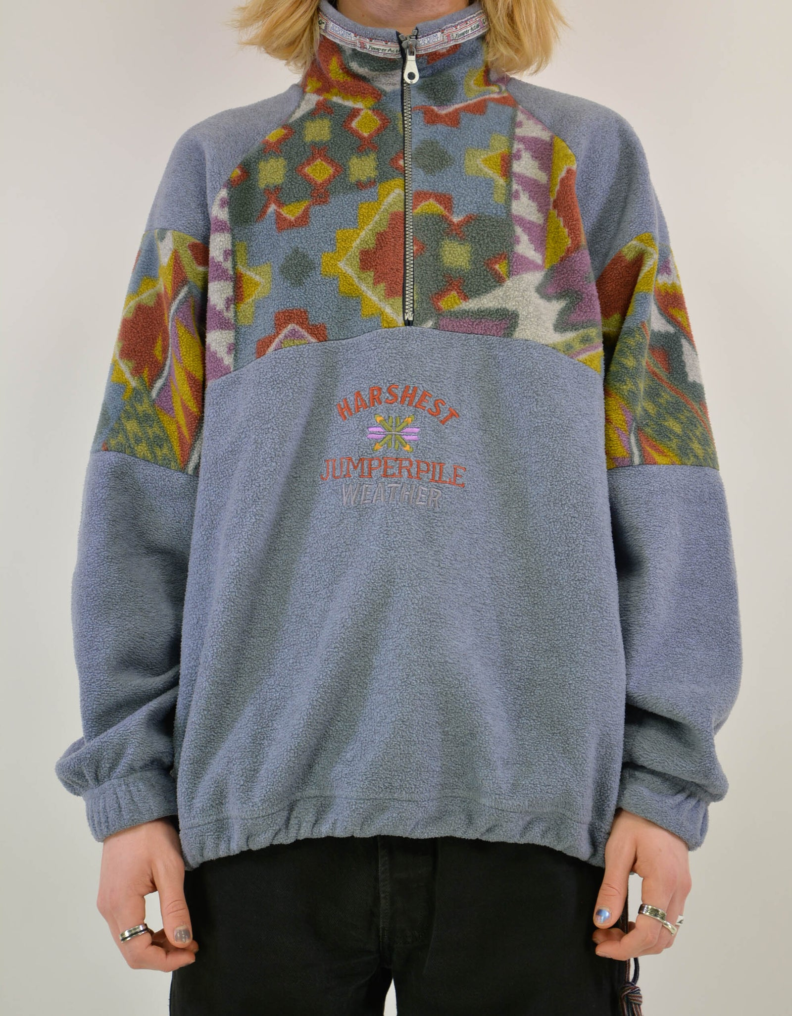 80s fleece sweater - PICKNWEIGHT - VINTAGE KILO STORE
