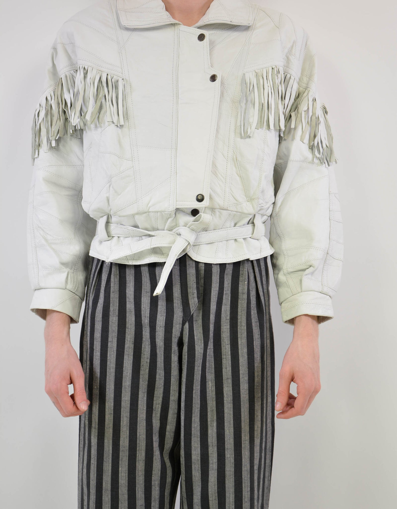 Leather fringe jacket - PICKNWEIGHT - VINTAGE KILO STORE