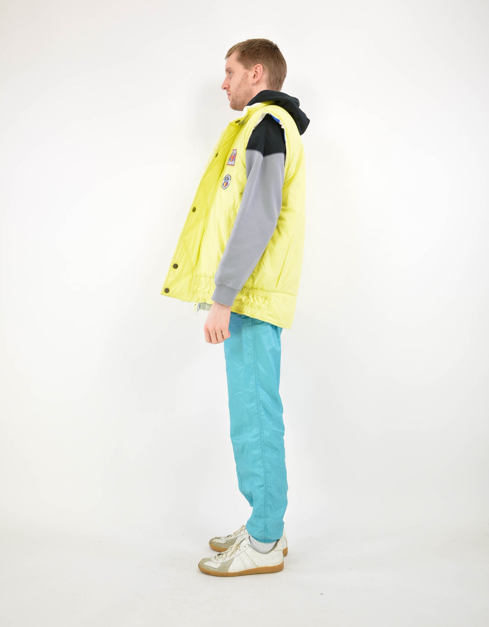 80s feather vest - PICKNWEIGHT - VINTAGE KILO STORE