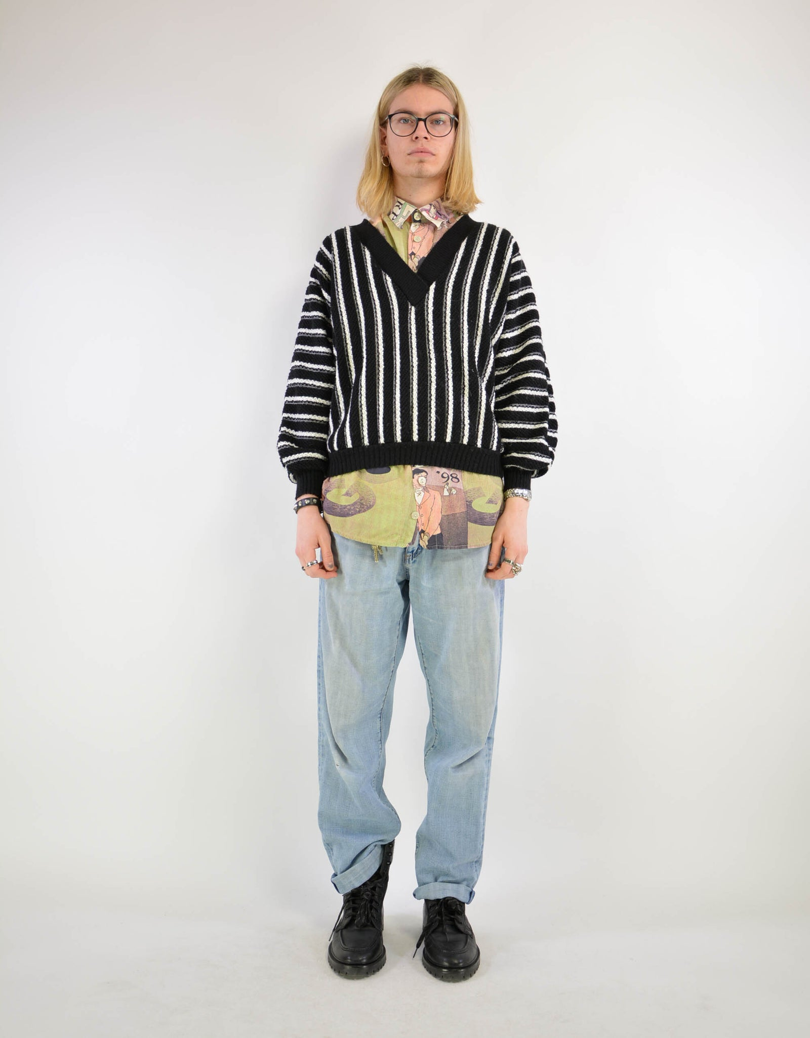 Striped sweater - PICKNWEIGHT - VINTAGE KILO STORE
