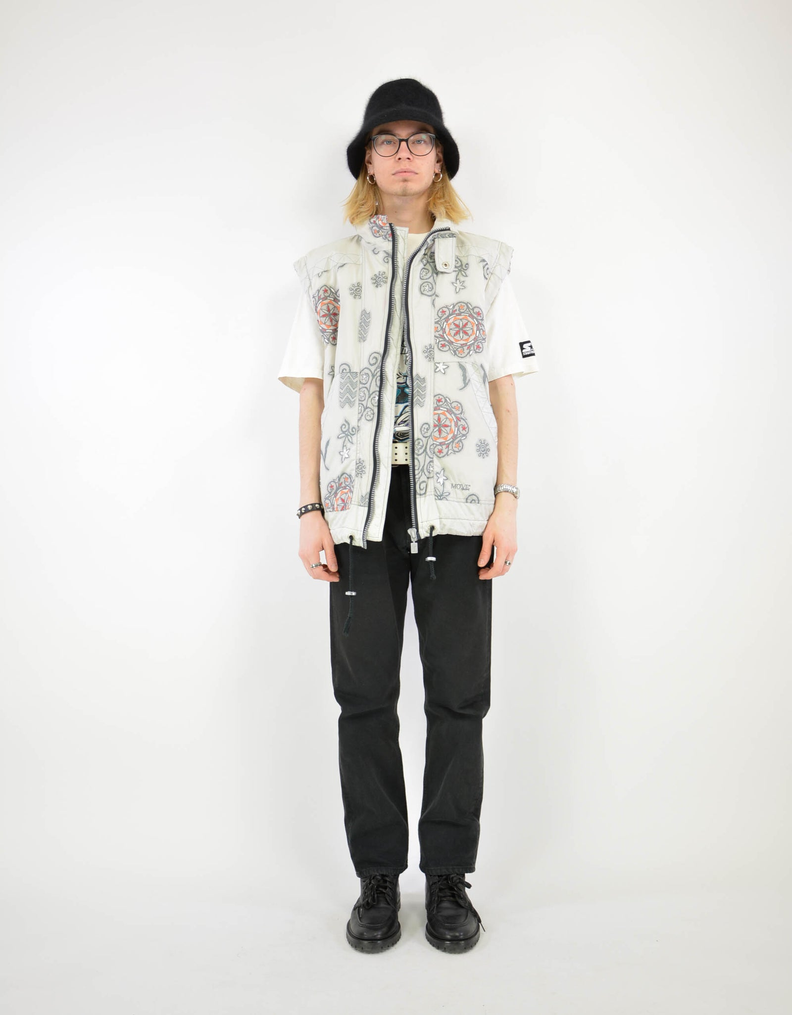 Embroidered vest - PICKNWEIGHT - VINTAGE KILO STORE