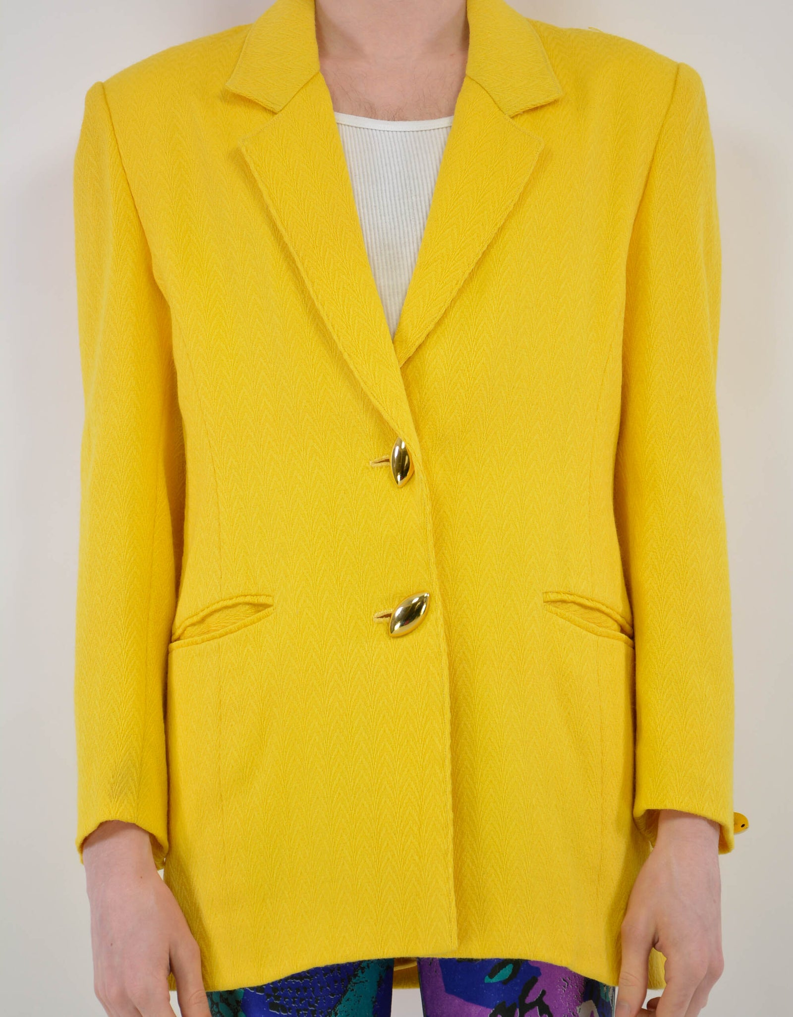 Yellow suit jacket - PICKNWEIGHT - VINTAGE KILO STORE