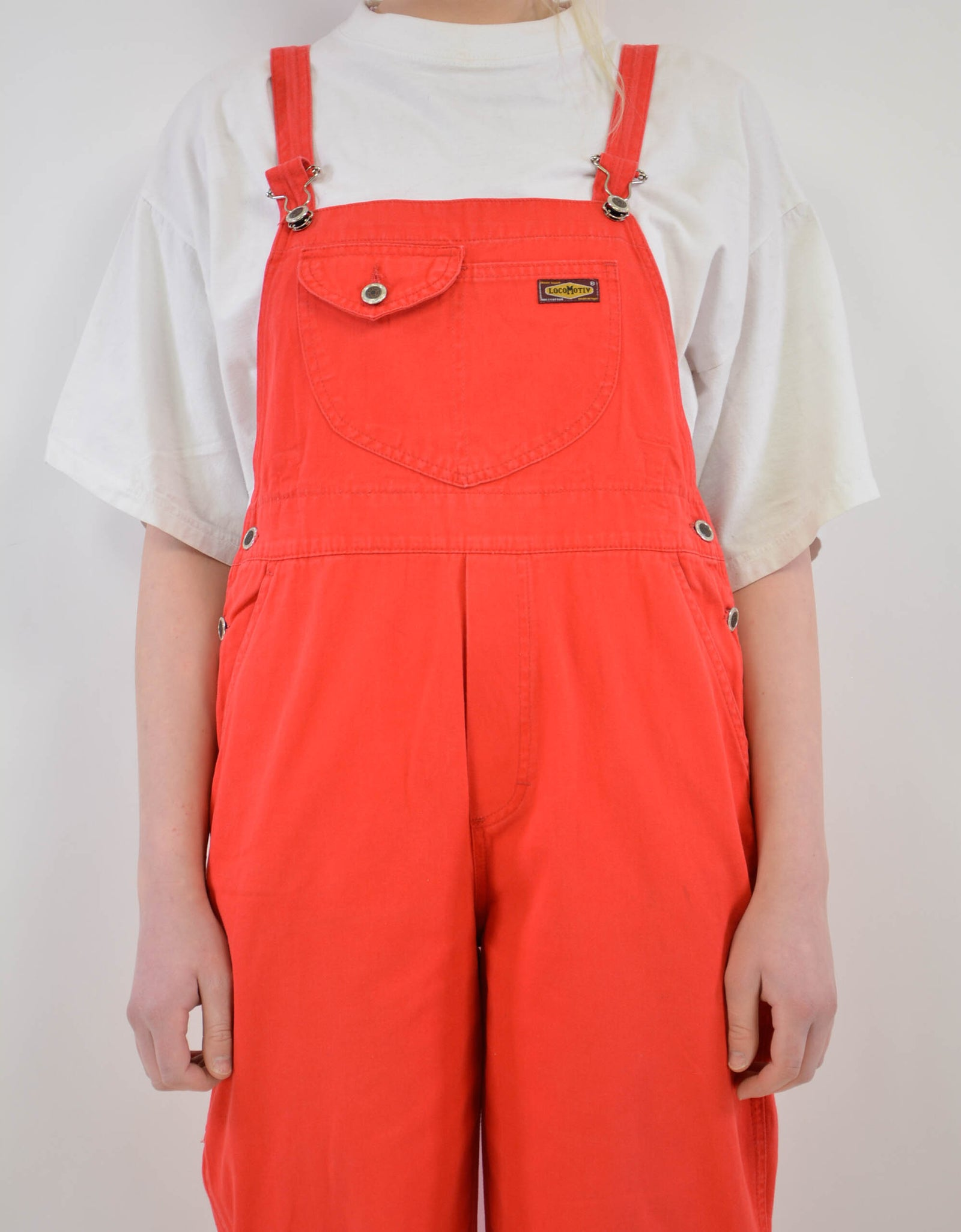 Red dungaree - PICKNWEIGHT - VINTAGE KILO STORE