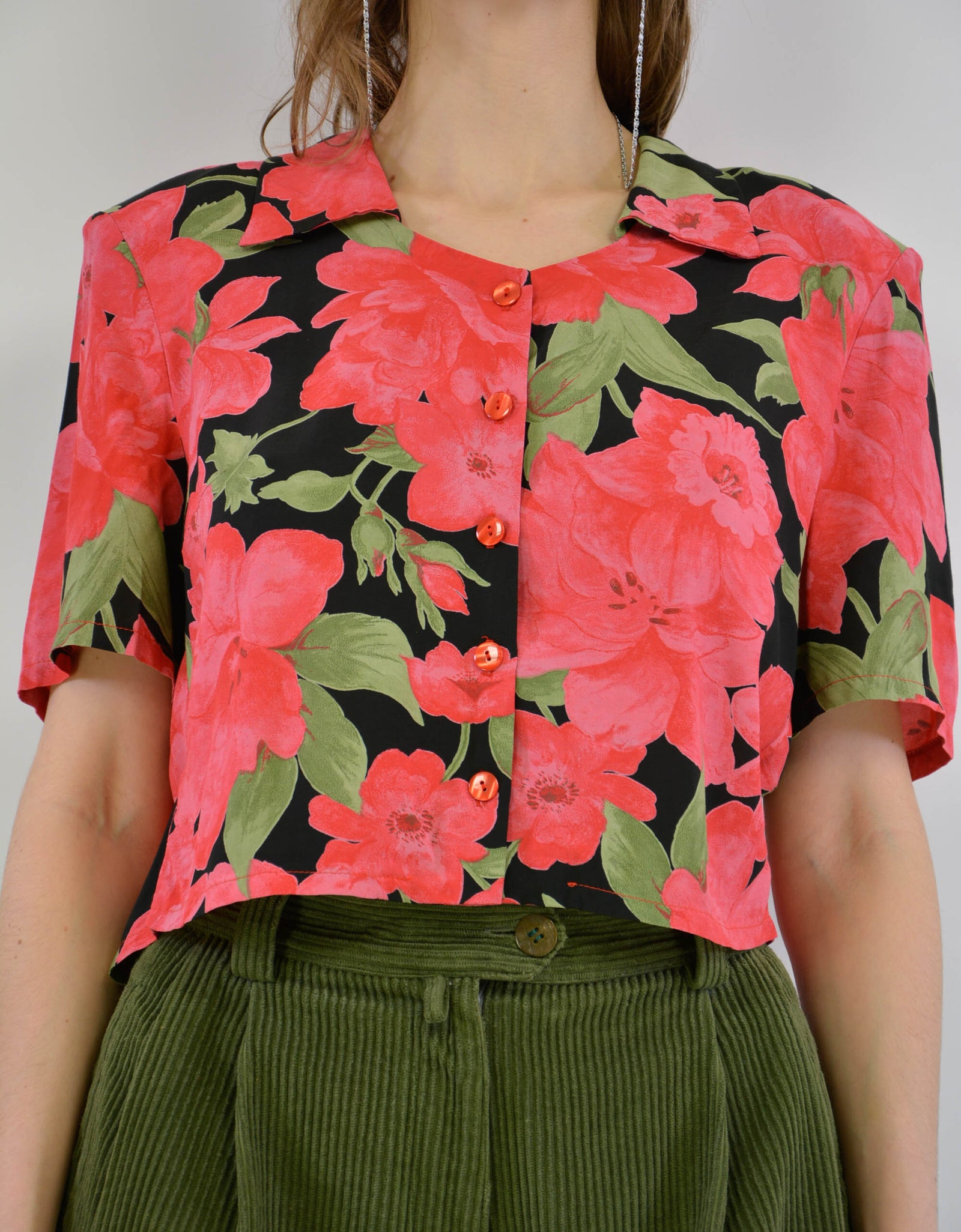 Flower blouse - PICKNWEIGHT - VINTAGE KILO STORE