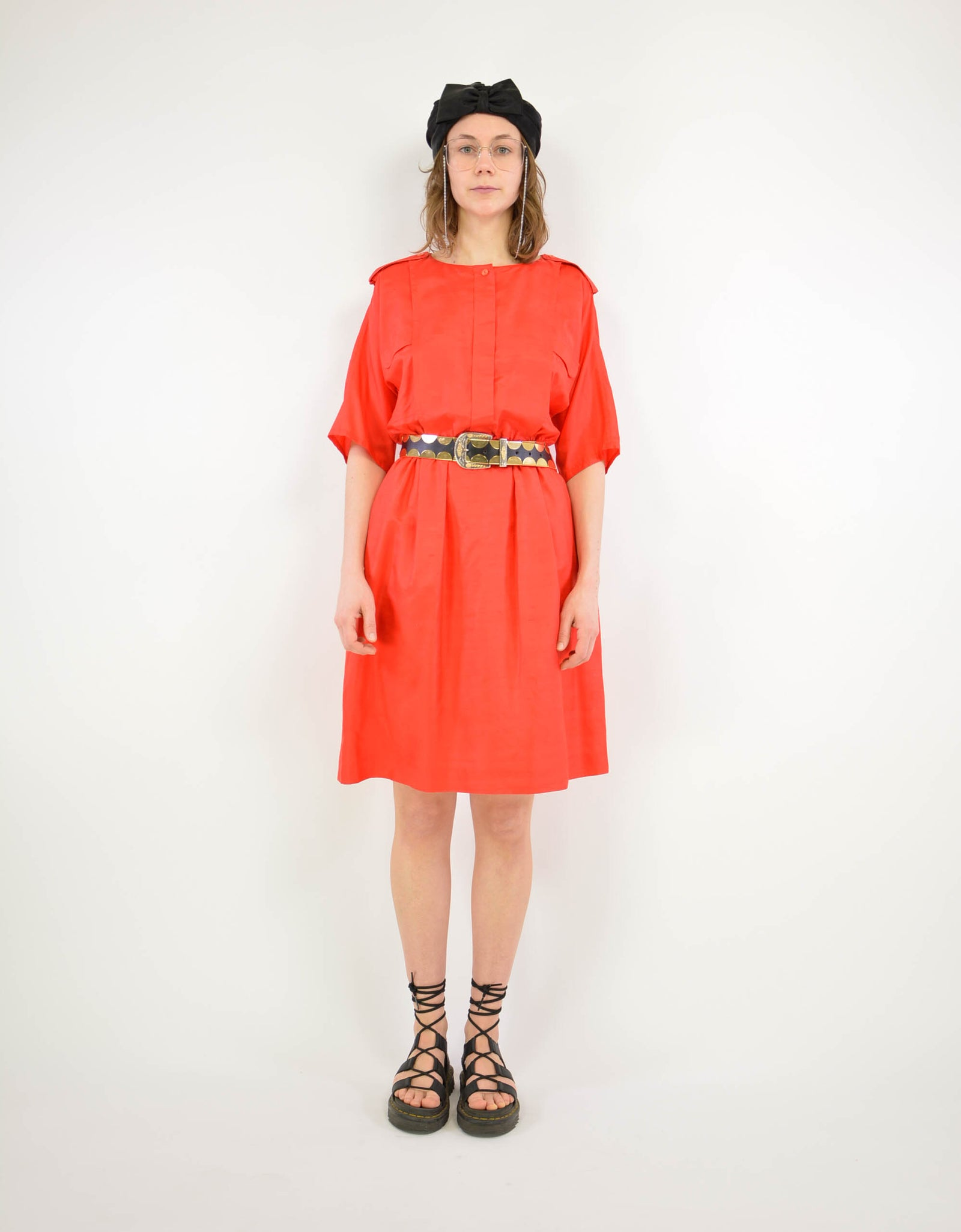 Red silk dress - PICKNWEIGHT - VINTAGE KILO STORE