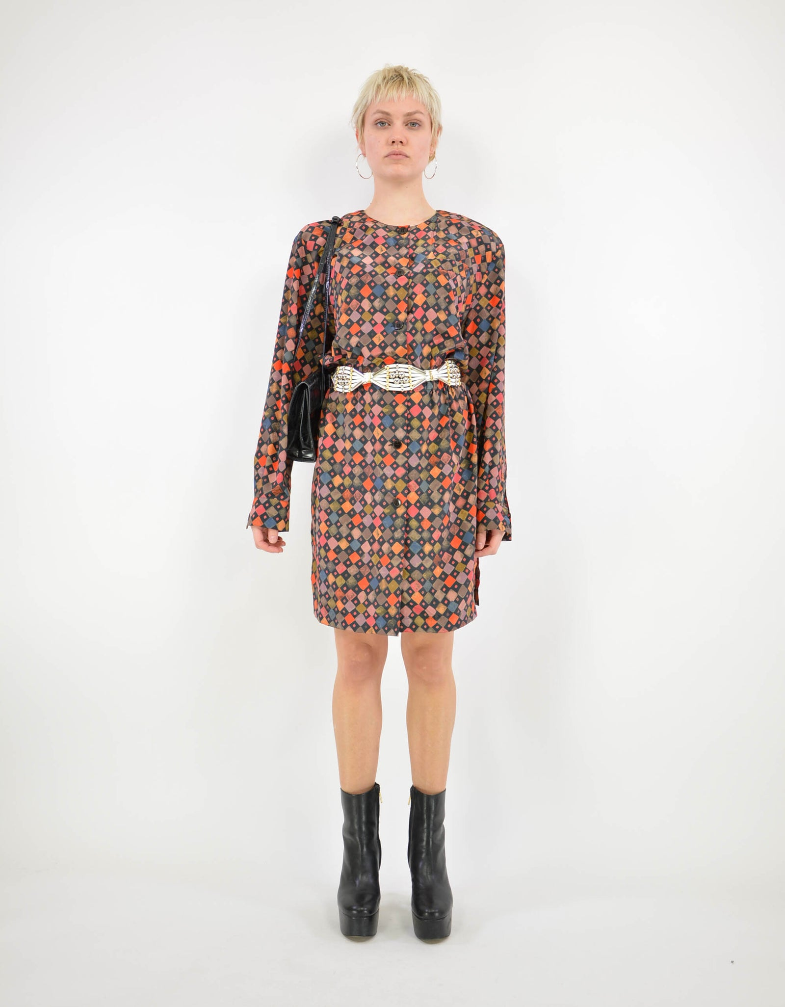 90s print dress - PICKNWEIGHT - VINTAGE KILO STORE
