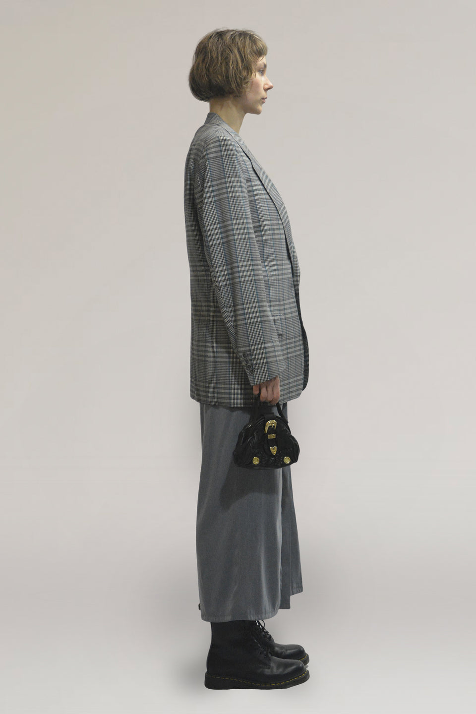 Checked oversize blazer
