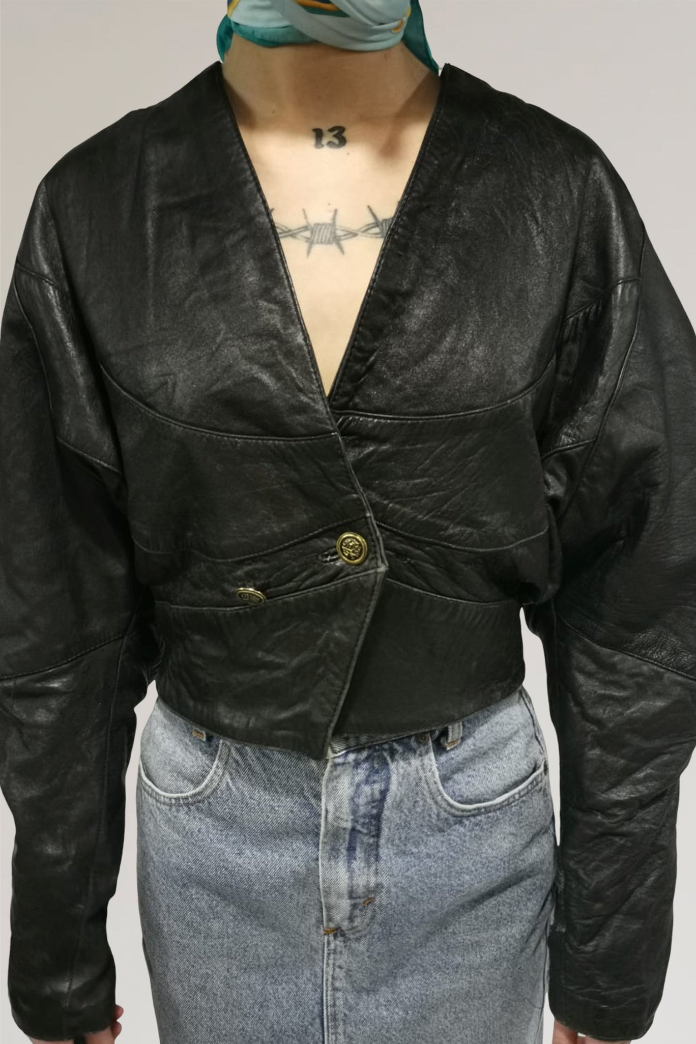Leather jacket - PICKNWEIGHT - VINTAGE KILO STORE