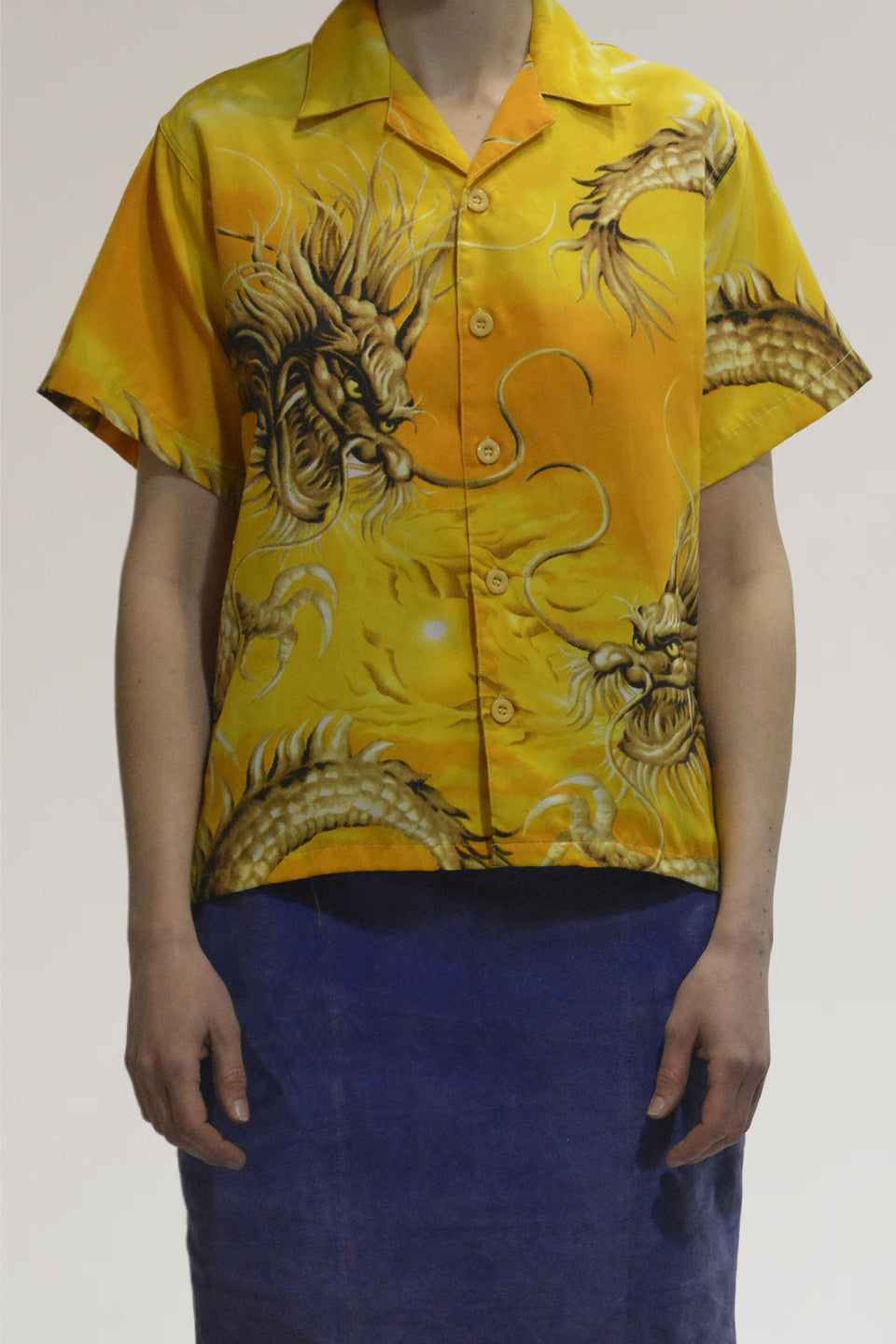 00s dragon print shirt