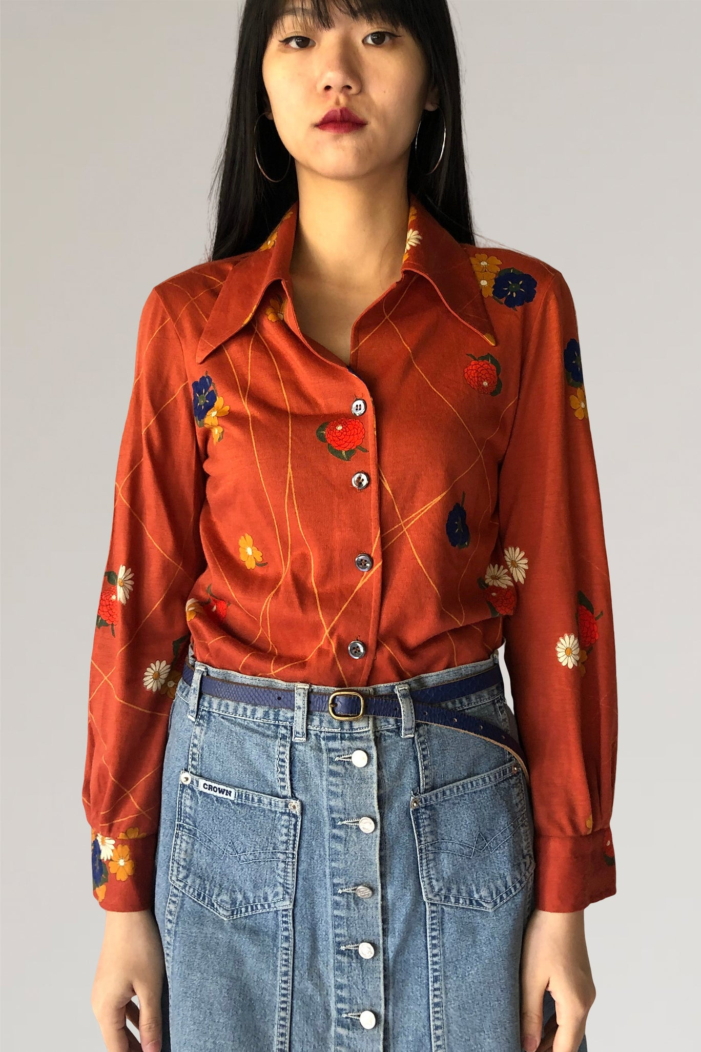 70s blouse - PICKNWEIGHT - VINTAGE KILO STORE