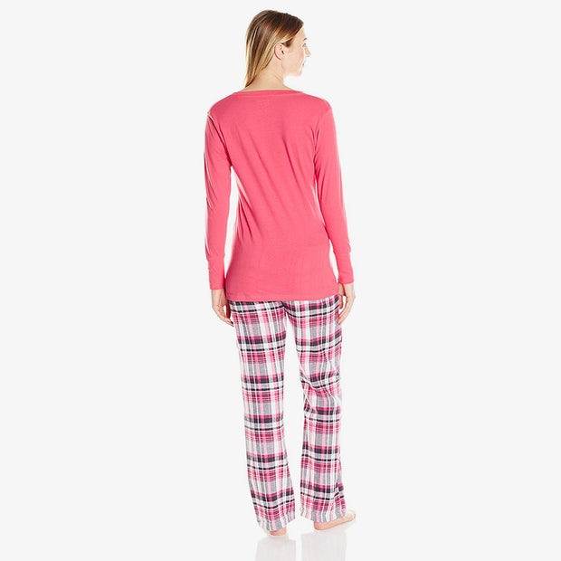 Ann Shirt and Vanessa Flannel Pant Set