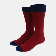 David Cotton Blend Crew Socks