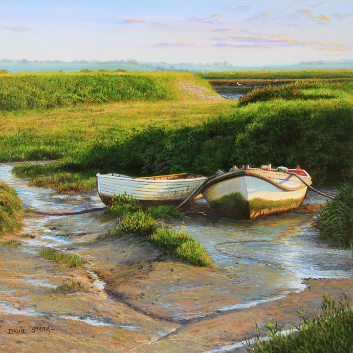 BOATS AT BRADWELL - Open Edition Print