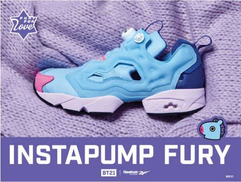 bd1423a9d2b1 BTS BT21 Reebock Pump Fury fashion shoes – Uncle iDol