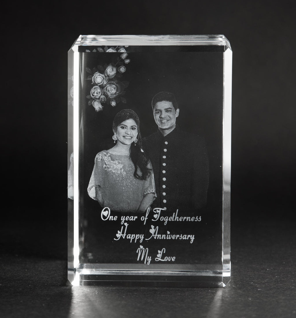 3D-Crystal Cube Personalized Gifts Anniversary 3DBS669