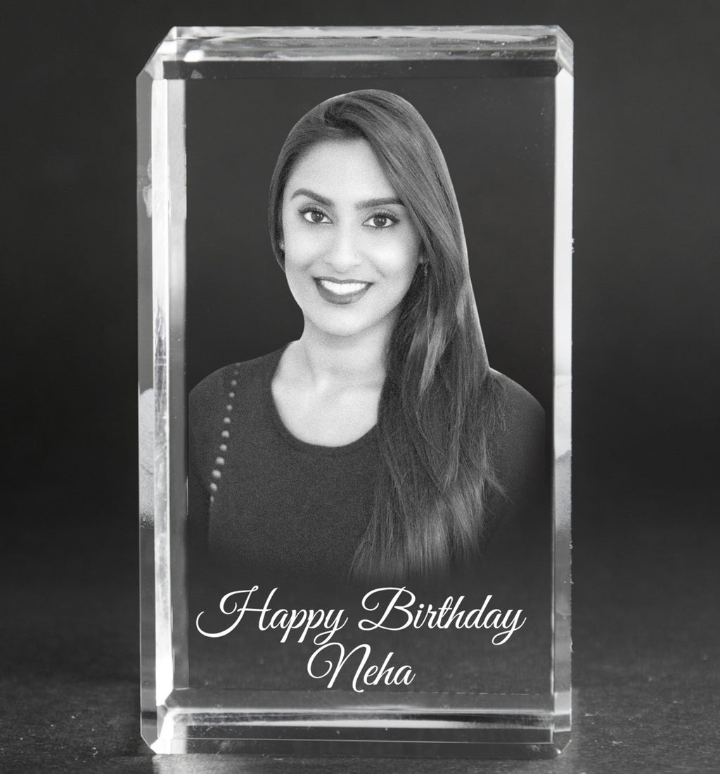 3D-Crystal Engraved Gifts Birthday BS585