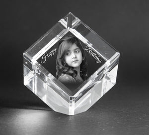 3D-Crystal Engraved Gifts Birthday CC555