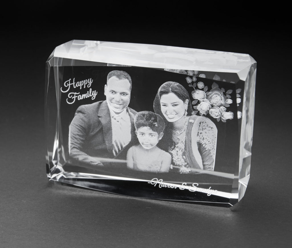 3D-Crystal Photo Cube Anniversary 3D7410
