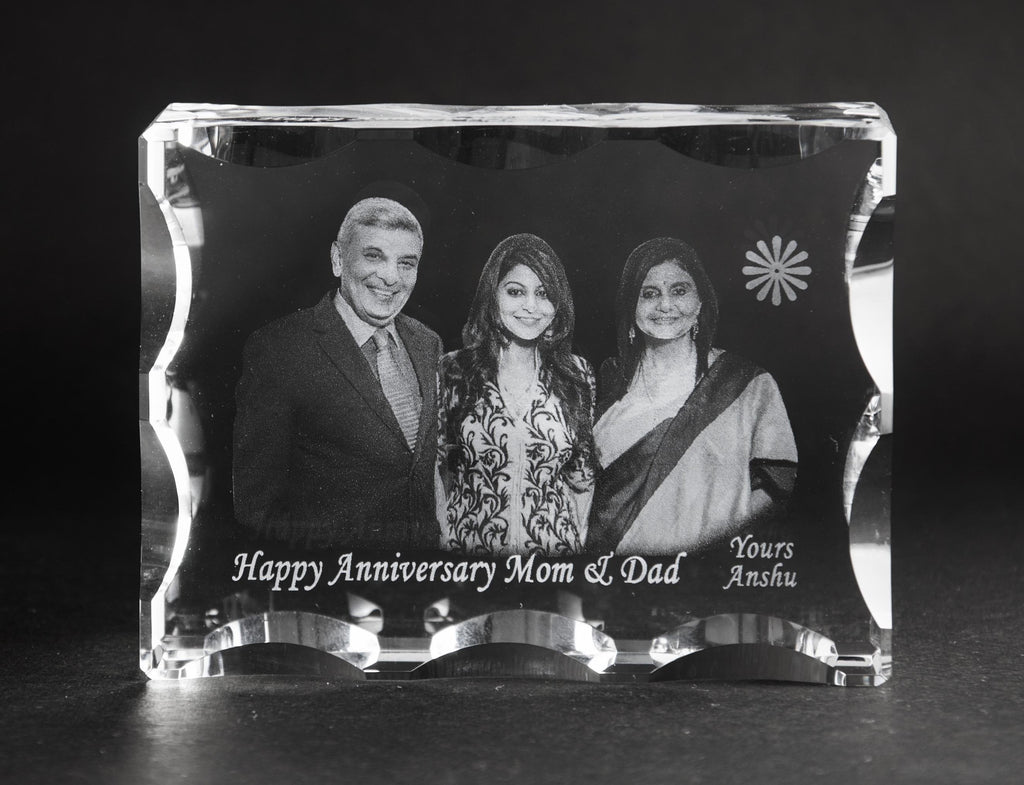 3D-Crystal Photo Gifts Online Anniversary 3DUF1074