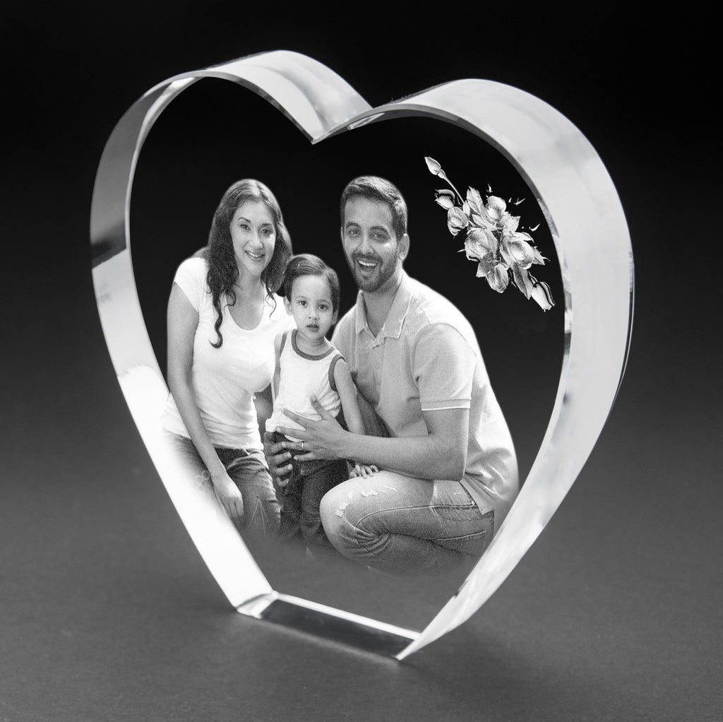 3D-Crystal Photo Gifts Online Anniversary 3Dhs112a