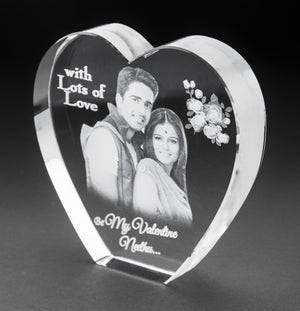 3D-Crystal Photo Gifts Valentine 3Dhs112a