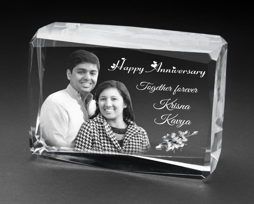 3D-Crystal Cube Personalized Gifts Anniversary 3D7410