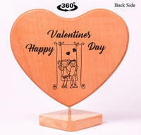 Heart Shaped Wooden Photo Frame Valentines BWP RHSL