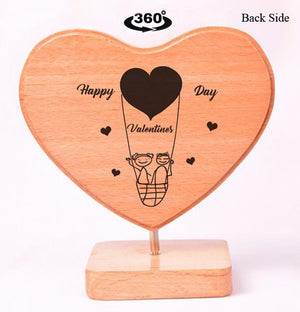 Heart Shaped Wooden Photo Frame Valentines BWP RHSS